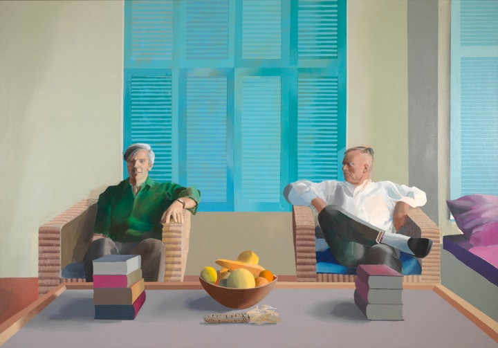 David Hockney_2 (christopher-isherwood-and-don-bachardy-1968)